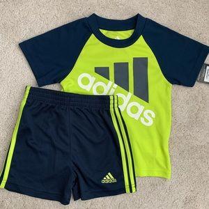 NWT Adidas Shorts and Tee Set